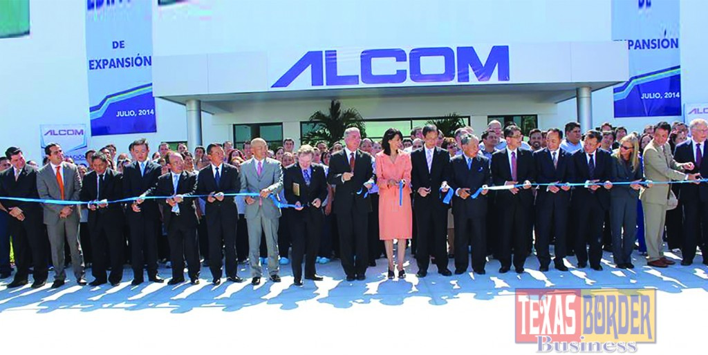 ":  Alcom Electronicos de Mexico has invested this significant amount because the business model that was created has been very successful. This also sends a clear signal that investing in the McAllen/Reynosa Maquiladora industry is alive. McAllen Mayor Jim Darling took part of this important ribbon cutting ceremony with his counterpart in Reynosa Mayor Jose ""Pepe"" Elias Maciel. On the left hand side of this above photo, Keith Patridge President of McAllen EDC also taking part of the ribbon cutting ceremony."