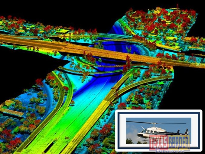 With aerial LiDAR mapping, we can derive precise dimensions and exact locations for each stretch of highway and each ramp, bridge, tree, and structure.   (Photos courtesy of Tuck Mapping Solutions, Inc.)
