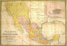 1847 Map of Mexico-Including Yucatan and Upper California