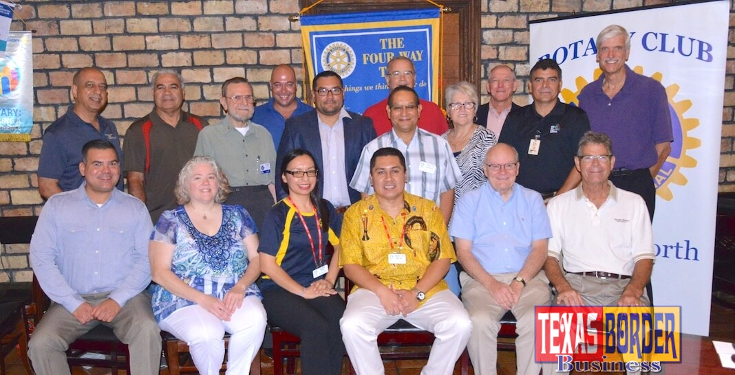 From L-R seating front row: Rene R. Cantu, Sales & Marketing, Nianna E. Gustovich, Language Teacher Valley View High School, Aleda Reyes, College of Health Care Professions, Marlon Martinez, Business Intelligence Analyst, Lone Star National Bank, Pat McCarty, CPA and Bill Stocker, Palace Cleaners. Back Row standing from L-R: Jeff Shooshtari, TWIN Inc., Lauro Solis, Retired AEP Executive, W.E.(Bill) Mann, CPA, Paul Stocker, Palace Cleaners, Jon Valdivia, Insurance, Carlos Vasquez, CVQ Land Surveyors, Hilton Wilson, Nuvimedix, Eva Mullis, Retired Financial Advisor, B.R. Whisenant, Jr., Insurance, Tommy Cantu, Bug Off Pest Control and Doug Schneider. Photo by Roberto H. Gonzalez