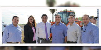 Pictured L to R: Cameron County Precinct 4 Commissioner Gus Ruiz, District Court 449th Judge Renee Rodriguez-Betancourt, Criminal District Attorney Ricardo Rodriguez Jr., State Senator Eddie Lucio, Hidalgo County Precinct 1 Commissioner David L. Fuentes and Hidalgo County Precinct 4 Commissioner Joseph Palacios.