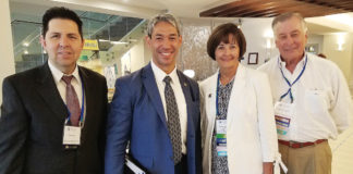 From left to right: Luis Cantu, V.P. for the McAllen Chamber and Texas State Representative (South) for SCI; Ron Nirenberg, Mayor of San Antonio and Vice Chairman of the Board for SCI; Mae Ferguson, Texas State Representative (North) for SCI; and Mike Hyatt, SCI Board of Directors.