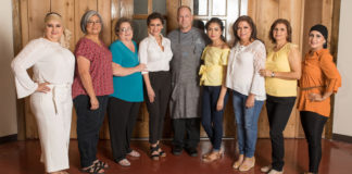 From left Meldi Pro Martinez, Esmer Garza, Shirley Arnold, Sylvia Fortuin, Executive Chef Chris Dickens from Europa Cuisine, Karen Garza, Susie Salinas, Elsa Ramos and Brenda Gonzalez. Not pictured are Diana Garza and Veronica Bishop.