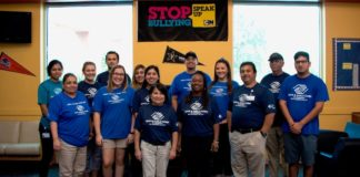 Boys & Girls Clubs of Edinburg RGV staff kicks off National Bullying Prevention Month and commemorate The BLUE SHIRT DAY® by wearing a blue shirts in solidarity to STOMP Out Bullying.