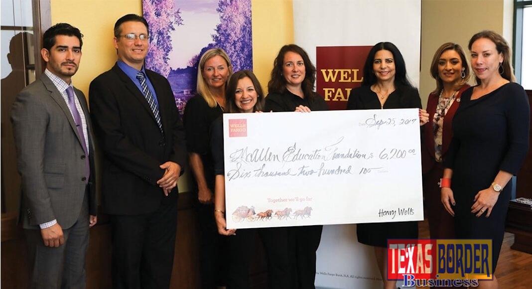 Wells Fargo Bank donates $6,200 to McAllen Education