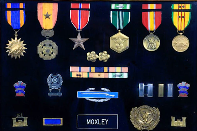 Moxley's military condecorations