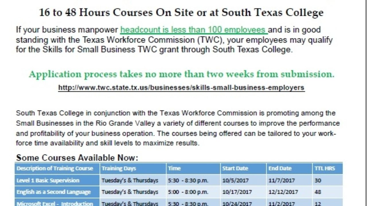 STC promotes small business through Skills grant from Texas