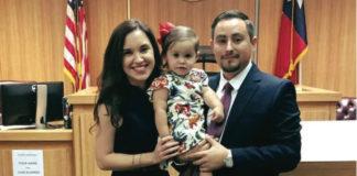 Edgar E. Garcia, Jr. with his wife Mariela and their daughter