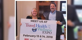 R-L: Bob Boggus of Boggus Ford, shown with McAllen Chamber of Commerce's Nancy Millar, is sponsoring the McAllen Chamber of Commerce's Travel, Health & Wellness Fair.