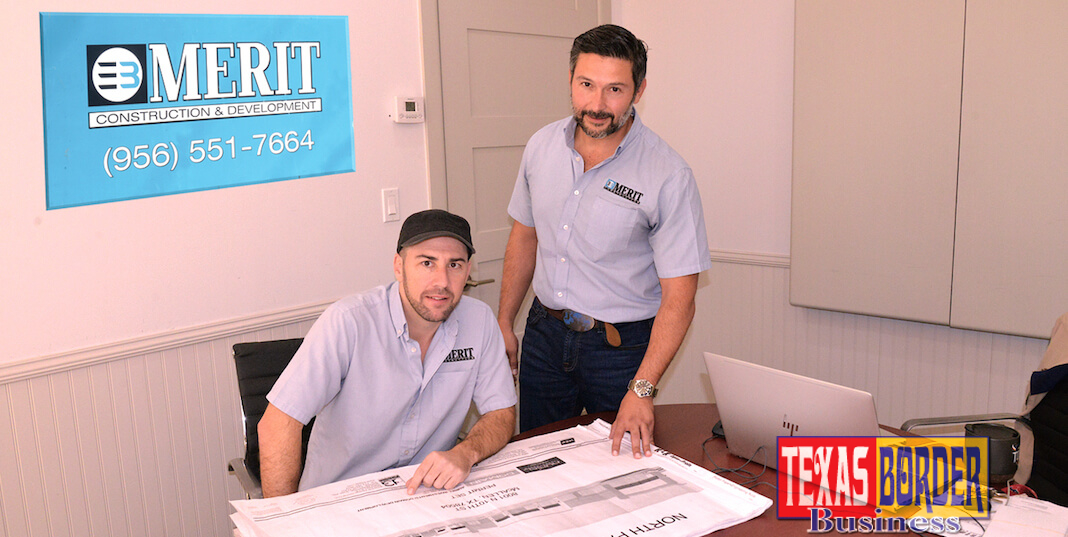 Brandon Fairlie and Enrique Garza, Jr. of EB Merit Construction. Photo Roberto Hugo Gonzalez