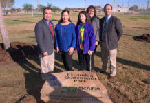 McAllen City officials inaugurated Escandon Skate Park on Uvalde and 29th. St.