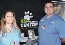 Pictured above not in order, Marty Vielma and Leslie Garbutt Vielma, both are dog trainers.