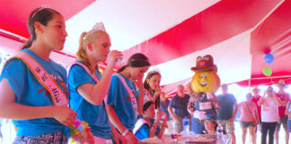 The Miss Weslaco and Miss Texas Onion Fest courts compete in the famous Onion Eating Contest at the 2017 Texas Onion Fest. This year's event will take place on Saturday, March 24 at Mayor Pablo Pena City Park in Weslaco.