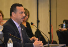 Pharr Mayor Ambrosio Hernandez, M.D., testifies before the Joint House Committees