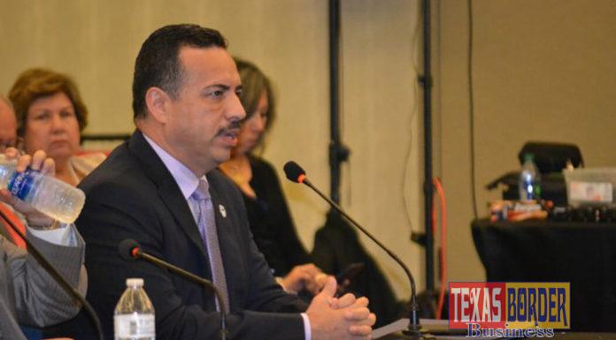 Pharr Mayor Ambrosio Hernandez, M.D., testifies before the Joint House Committees