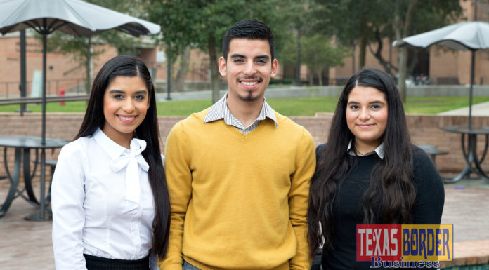 Triplets Karla, Oscar and Karen Romero are UTRGV students from Roma, Texas, who say the challenges of navigating college life as a trio are different from high school, where everyone knew them. They only have one class together at UTRGV, but they still live together and continue to split household duties into thirds. (UTRGV Photo by Paul Chouy)