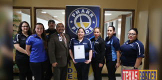 "Public Safety Telecommunicators from the Pharr Police and Fire Communications Centers were recognized by the City Commission and received a proclamation in honor of ""National Telecommunicators Week""."