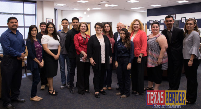 San Antonio ISD leaders pictured with PSJA ISD students and staff.