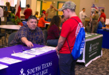 The Office of Veterans Affairs at South Texas College has organized its next Veterans Expo to be held on three campuses beginning April 17. The first Expo will take place at STC's Technology Campus. The Pecan Campus Veterans Expo will take place at the library on April 18, and the Mid-Valley Expo will take place on April 25. Time for all events are from 10 a.m. to 1 p.m. Created as a resource for veterans in the community, the Expo will consist of area vendors who be on hand distributing information of the benefits and services available to them.