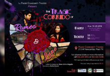 Poster for The Tragic Corrido of Romeo and Lupe, designed by Amanda Babineaux.