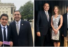 Congressman Henry Cuellar (TX-28) hosts Oscar Solis Jr. from Mary Help of Christians School in Washington on Wednesday. Left photo (from left to right): Congressman Henry Cuellar, Juan Diego Guerrero. Right photo (from left to right): Congressman Henry Cuellar, Sharyl Attkisson, Juan Diego Guerrero