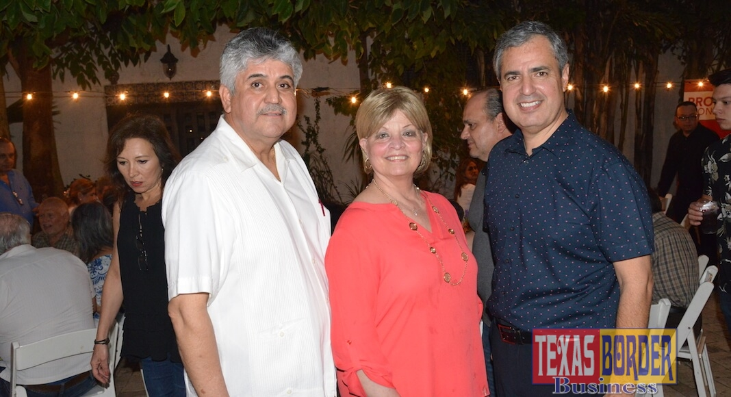 Manuel Muniz, Executive Vice President, International Division; Dora Brown, Senior VP of Marketing; and Adrian Villarreal, President and CEO of IBC-McAllen. Photo by Roberto Hugo Gonzalez