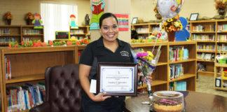 Dr. Long Elementary Science TeacherSandra Gonzalezwas named the 2018 Elementary Teacher of the Year