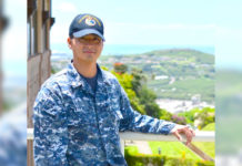 Petty Officer 2nd Class Christopher Lima, a yeoman, is serving at Camp H. M. Smith in the area of operations where U.S. Pacific Fleet Headquarters is located.