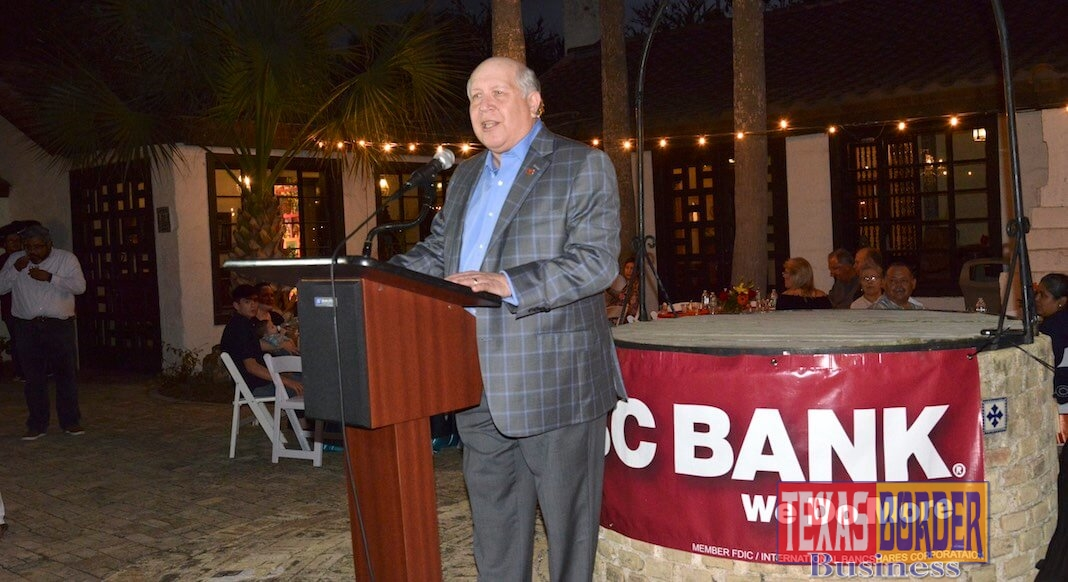 "Mr. Gerardo ""Gerald"" Schwebel, Executive Vice President, Corporate International Division IBC Bank-Laredo, Texas took part in the celebration. Photo by Roberto Hugo Gonzalez"