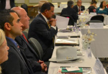 Law enforcement from across the region offered their input at the first President's Advisory Council Luncheon on April 27.