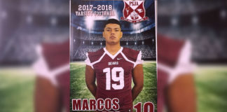 PSJA ECHS Senior Marcos Pedraza Jr. was selected for the highly competitive 2018 Blue-Grey Football Super Regional Combine Circuit held at the AT&T Stadium in Arlington from June 2-3, 2018.