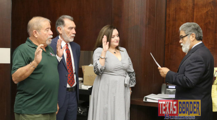 Board Members took their Oath of Office.