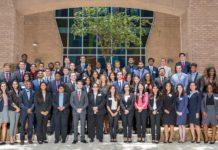 The UTRGV School of Medicine's third cohort class photo on Monday, July 9, 2018 at the Medical Education Building in Edinburg, Texas. UTRGV Photo by Paul Chouy