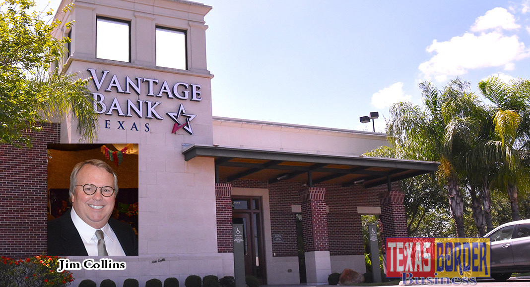 """The meaning of intent to merge, both Vantage Bank Texas and Inter National Bank are committed to continuing roles as actively engaged community partners and corporate citizens. As part of that commitment, their support of local nonprofits and civic organizations will continue. They emphasized that they will continue to make decisions locally and to exhibit a strong regional presence,"" Jim Collins, trustee of the Collins Family Trusts. Pictured above is the Vantage Bank Texas located south 10th and Jackson in McAllen."