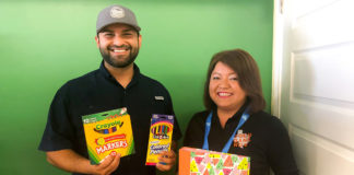 Help collect new school supplies with Philip Farias and Ruby Martinez of the Food Bank RGV!  Fill the Bus is a single-day school supply drive located at the H-E-B stores at Paredes Line Road, Brownsville; Shary Road, Mission and the CBS 4 Studios in Harlingen, Texas.  Local businesses are needed to sponsor Fill the Bus, from 9 am to 6 pm, August 9, 2018.