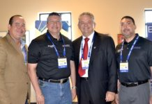 Pictured from L-R: Mike Farias, EEDC Vice-President; Mayor Richard Molina, Edinburg Mayor and EEDC Director; Robert C. Vackar, Bert Ogden Auto Group and EEDC Board President.