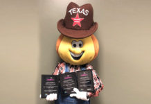 Tex the Sweet Onion (pictured) is the official mascot of Texas Onion Fest, which received three first-place awards at this year's TFEA conference held in McAllen.