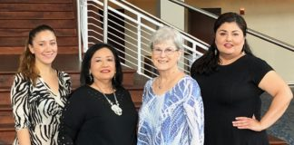 L-R: Estela Salazar, Membership Director RGV Hispanic Chamber of Commerce; Stephanie Ramirez, MCC Marketing Manager; Estela Salazar, Membership Director RGV Hispanic Chamber of Commerce; Suzanne McDonald, VSO Vice-President; Vivian Vargas, VSO Marketing Manager