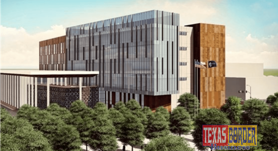 Construction has begun. The new Hidalgo County Courthouse will house 24 courts, with room for additional courts as needed. It features state-of-the-art security and functionality and will serve the county's growing population into the next century.
