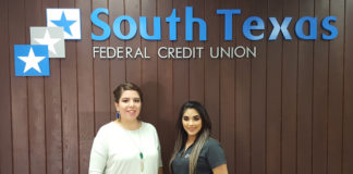Pictured L-R: Laura Espinoza, Marketing Director, Weslaco Chamber of Commerce and Jessica Marin, South Texas Federal Credit Union.