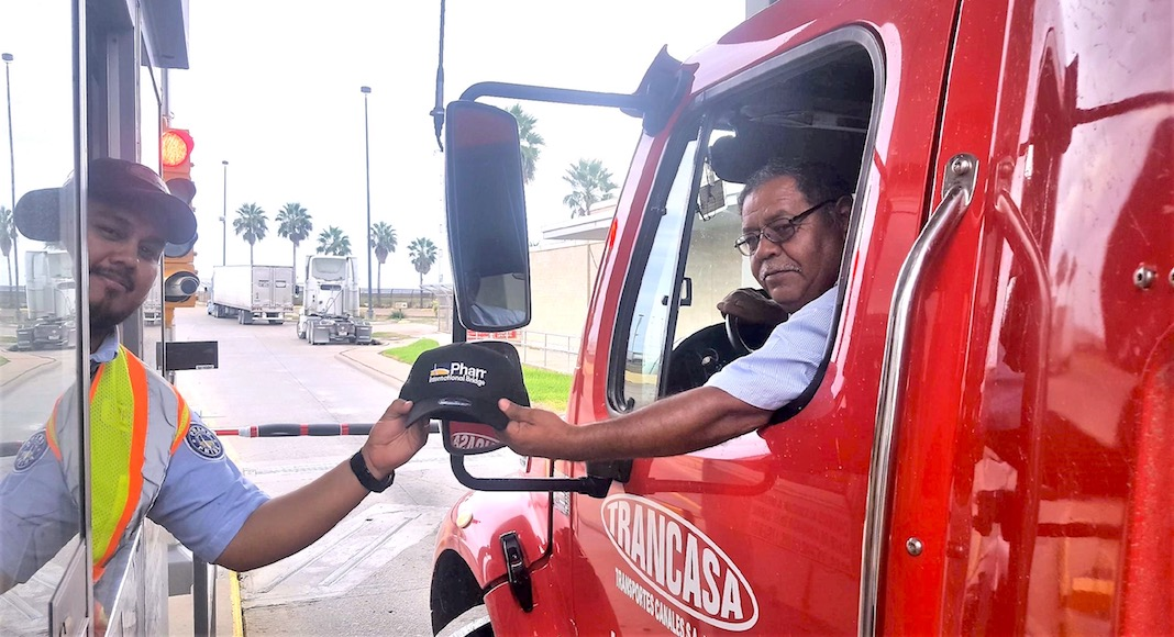 Pharr International Bridge Gives Trucking Caps to Truckers During National Truck Driver Appreciation Month
