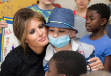 First Lady Melania Trump visits children at the Pediatric Hospital Bambino Gesu, Wednesday May 24, 2017, in Vatican City. Official White House Photo by Andrea Hanks