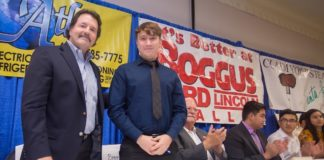 South Texas College, the McAllen Chamber of Commerce, and McAllen Independent School District's Youth Apprenticeship Program held a ceremonial signing day Oct. 31. Aaron Martinez (above) was among the 15 students who secured apprenticeships with businesses in McAllen. Martinez will work at Boggus Ford/Lincoln.