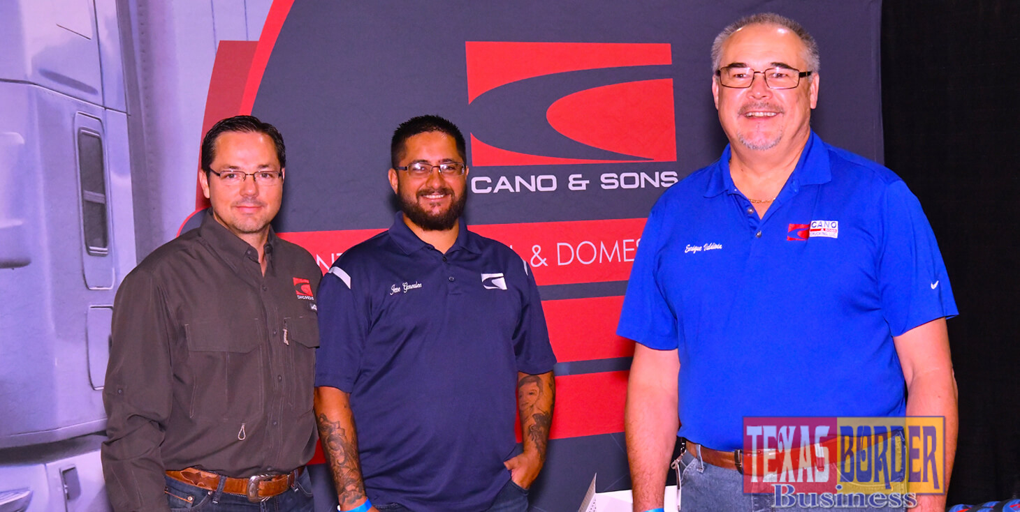 Pictured on the right, Enrique Baldivia, with Operations, at Cano and Son's Trucking, LLC. They participated at the Pharr International Trucking Expo on September 29, 2018. Photo by Roberto Hugo Gonzalez