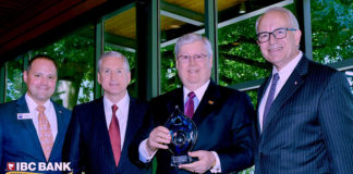 From left to right: A.J. Rodriguez, Chair, Texas Association of Business; G. Brint Ryan, CEO, Ryan LLC.; Dennis E. Nixon, Chairman and CEO, International Bank of Commerce; Judge Jeff Moseley, President and CEO, Texas Association of Business.