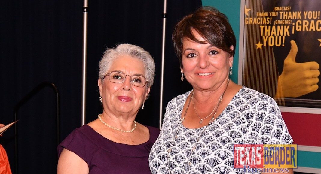L-R: Judge Linda Yañez and Yoli Cantu. Both attended to The VAMOS 22nd Annual Scholarship Banquet. Judge Yañez was the keynote speaker of the event. Photo by Roberto Hugo Gonzalez