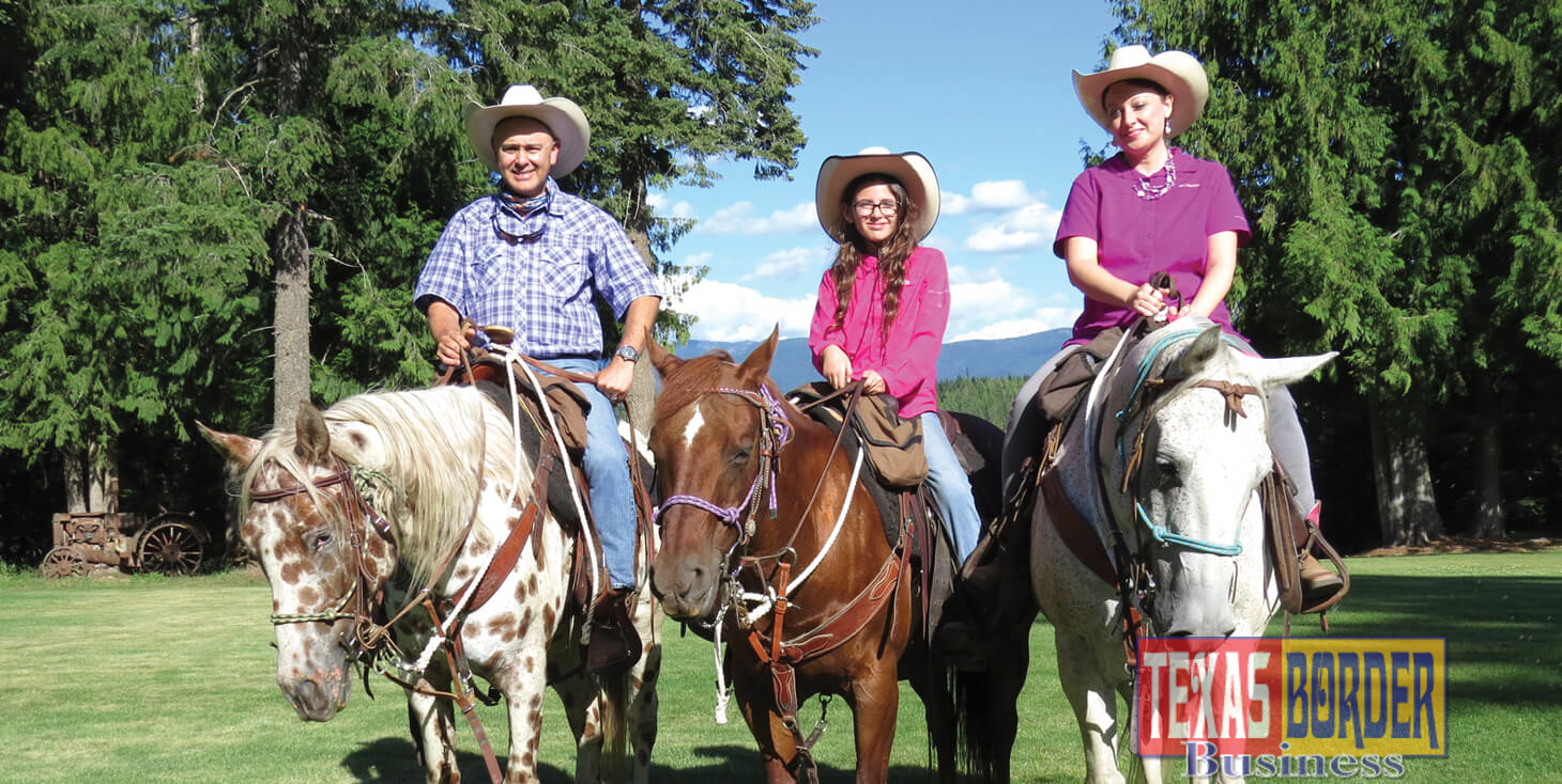 Pictured above, Sophia Villarreal, 10, (center) won a dude ranch vacation for herself and her parents, Robert and Angela Villarreal (left and right) at Western Pleasure Guest Ranch in Sandpoint, Idaho. Sophia wants to return next year to ride Red, her favorite horse. Entries and guidelines for this year's online arts festival can be found at www.KidsTalkAboutGod.org/rgv. Deadline is Dec. 12, 2018.