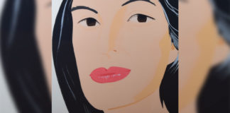 Ada, by Alex Katz, 1994, Silkscreen in ten colors on paper, 34 3/4 x 35 x 1 inches. Collection of International Museum of Art & Science, Gift of the Blanton Museum of Art, 2018, Transfer from The Contemporary Austin, gift of Camille and Dave Lyons, 2010