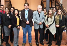 "Featured in this photo is Leadership Edinburg Class XXX with presenters Joseph Fox and Dr. Chance at the Museum of South Texas History. Front Row (L-R): Marc Sherwin Nario Roque, Mirna Z. Galeana (Memorial Funeral Home), Jessica M. Maldonado (SAMES, Inc.), Joseph Fox (Museum of South Texas History), Dr. Joseph E. ""Joe"" Chance, Pamela Garza (International Consulting Group), Nancy Yvette Carr (Farmers Insurance- Priscilla Cavazos Agency) and Jonathon Vasquez (South Texas Literacy Coalition). Back Row (L-R) : Jay Anthony Alanis (PlainsCapital Bank), Nancy Nadeau (University of Texas Rio Grande Valley), Gloria Garcia (Abbott Vascular) and Sandra Yvette Alaniz (South Texas Health System- Edinburg)."