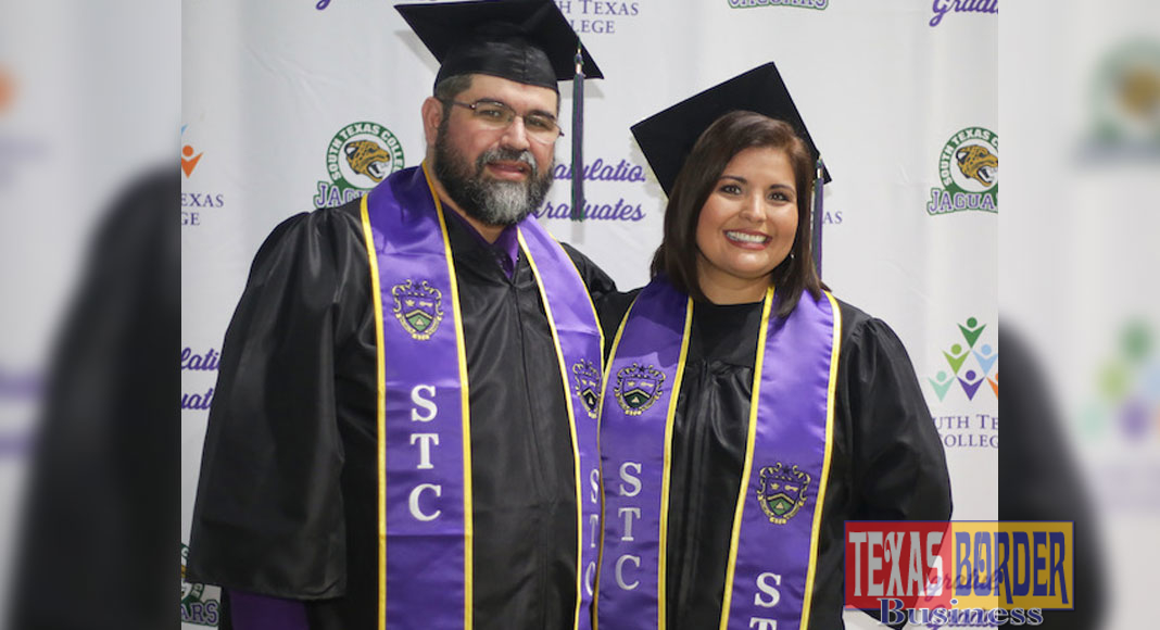 Siblings Aimee Castro and Jose Angel Garcia were among the thousands of graduates present for South Texas College fall commencement Dec. 1
